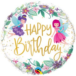 "Wild Flower Fairies ""Happy Birthday"" Balloon - 18"" Foil"