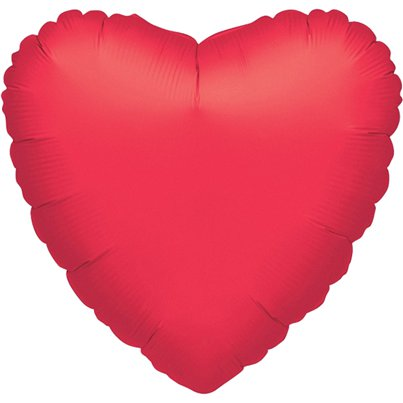"Metallic Red Heart Balloon - 32"" Foil"