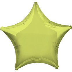 "Metallic Lime Green Star Balloon - 19"" Foil"