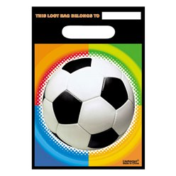 Championship Football Party Bags - Plastic Loot Bags