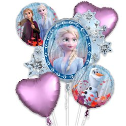Frozen 2 Balloon Bouquet - Assorted Foils