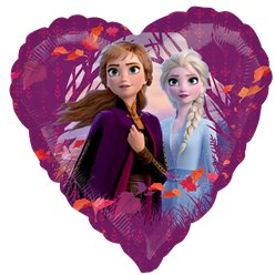 "Disney Frozen 2 Heart Balloon - 18"" Foil"