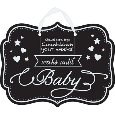 Baby Shower 'Countdown to Baby' Chalkboard Sign