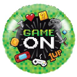 "Game On Metallic Balloon - 18"" Foil"