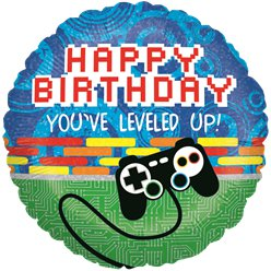 Holographic Gaming Birthday Balloon - 18