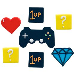 Game On Sugar Cake Toppers - 7pk