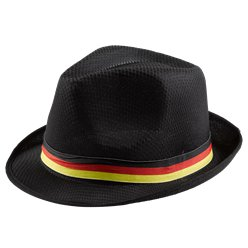 German Euro Cup Black Trilby Hat