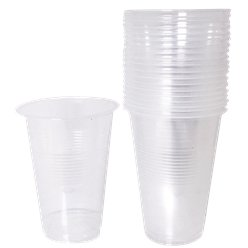 Clear Plastic Half Pint Glass - 284ml