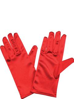 Adult Short Red Gloves