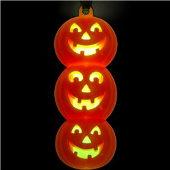 Halloween Glow Pumpkin Necklace - 6.5cm