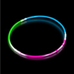 Tri- Colour Glow Necklaces - 60cm