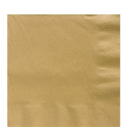 Gold Luncheon Napkins - 33cm Square 2ply Paper