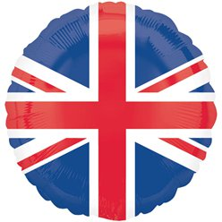 "Union Jack Design Round Balloon - 18"" Foil - Royal Wedding Street Party Supplies & Decorations"