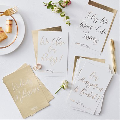 Gold Wedding Milestone Cards
