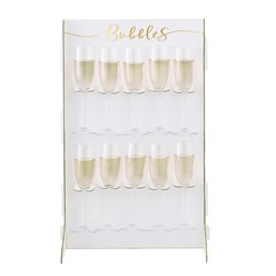 Gold Wedding Prosecco Wall Drinks Holder