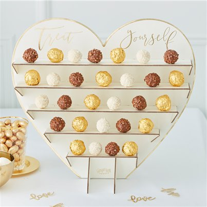 Gold Wedding Chocolate Treat Stand - 40cm
