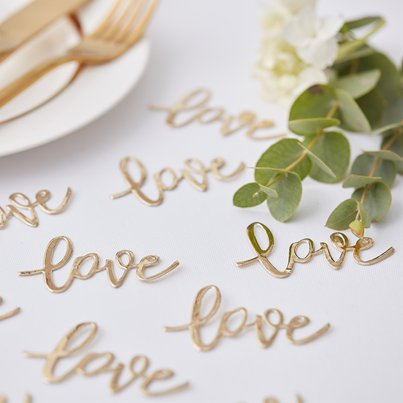 Gold Wedding Love Table Confetti - 14g