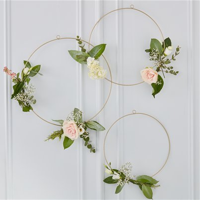 Gold Wedding Hanging Hoops