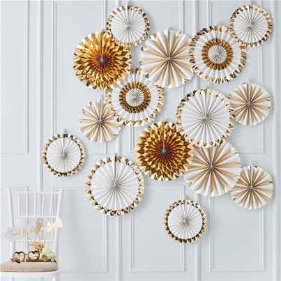 Gold Wedding Fan Decorations