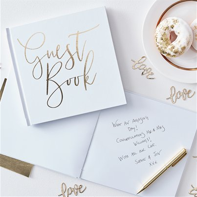 Gold Wedding Foiled Guest Book