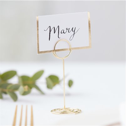 Gold Wedding Place Card Holder