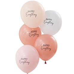 "Pastel Happy Everything Balloons - 12"" Latex"