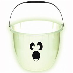 Halloween Glow in the Dark Ghost Pail - 22cm