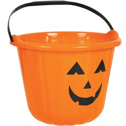 Orange Pumpkin Bucket - 22cm