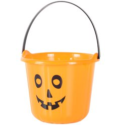 Orange Pumpkin Bucket - 15x17cm