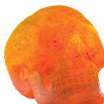 Giant Light Up Skull with Sound - 30cm