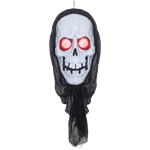 Hanging Skull with Light Up Eyes - 1m