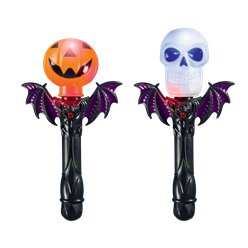 Light Up Halloween Pumpkin or Skull Torch - 25.5cm
