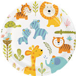 Happi Jungle Plates - 23cm Paper Party Plates