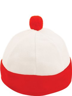 Child's Red & White Hat