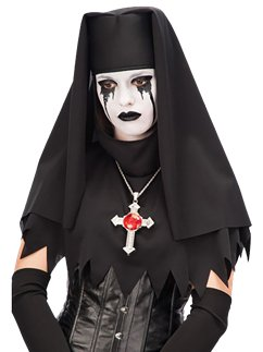 Zombie Nun Headpiece