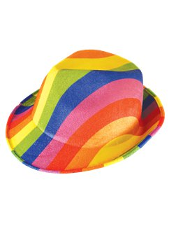 Rainbow Pride Gangster Hat