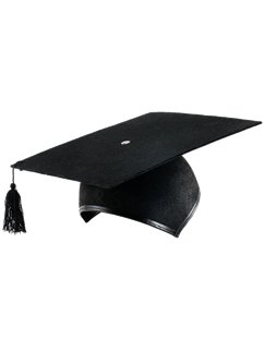 Graduation Mortar Hat Deluxe