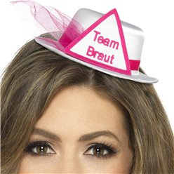 """Team Braut"" Mini Hat - White"