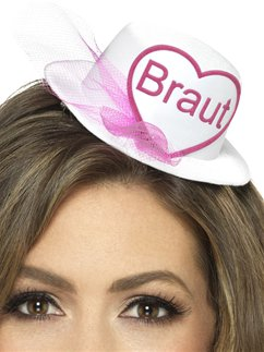 Braut Mini Hat - White