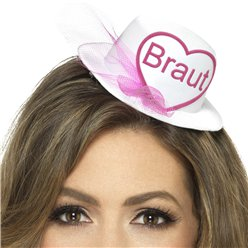 """Braut"" Mini Hat - White"