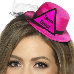 """Team Braut"" Hat Pink"