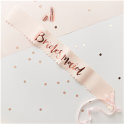 Bridesmaid Rose Gold Foiled Paper Sashes