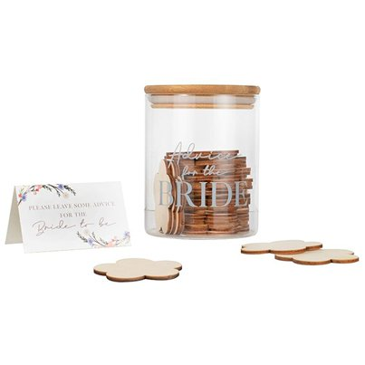 Advice For The Bride Glass Jar