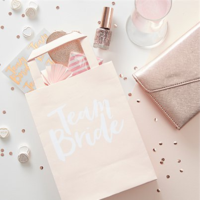 Team Bride Paper Party Bags - 20cm