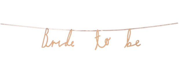 Bride To Be Rose Gold Garland - 1.2m