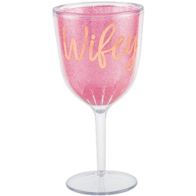 Blush Hen Party 'Wifey' Plastic Wine Goblet