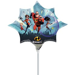 "The Incredibles 2 Mini Airfilled Balloon - 9"" Foil"