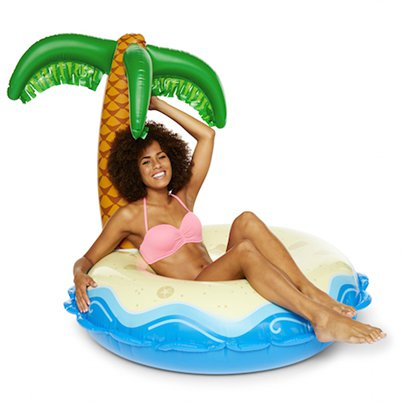 Giant Inflatable Palm Tree Island Pool Float