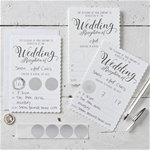 White Wedding Reception Scratch & Reveal Invites