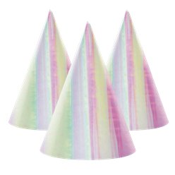 Iridescent Cone Party Hats - Paper Party Hats